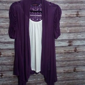 ANNABELLA PURPLE LACE BACK TOP SIZE XL